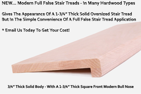 False Stair Treads Direct Wood Tread Caps And Risers In Canada
