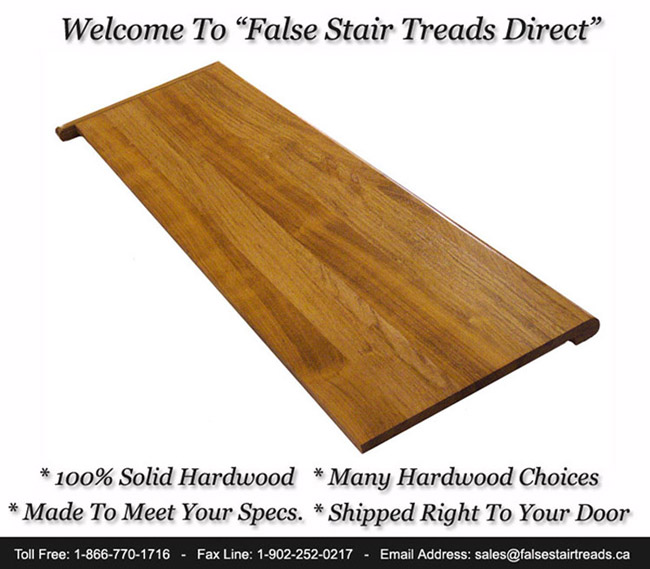 Shop False Stair Treads Direct   We Are A Multiple Consumer Choice Award  Winner   BBB A+ Rated Supply Company Buy 100% Solid Hardwood Full  Replacement Tread ...